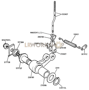 Relay Lever for Hand Brake Part Diagram