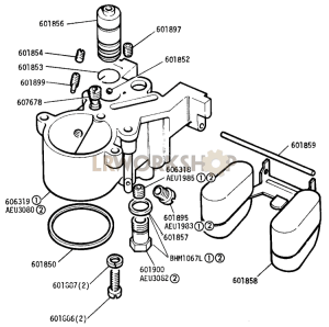Emulsion Block - Carburetter Part Diagram