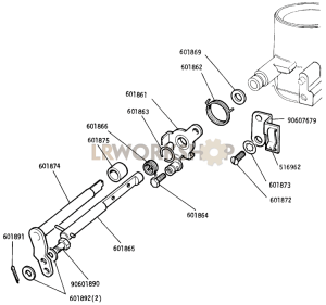 Choke Spindle and Levers - Carburetter Part Diagram
