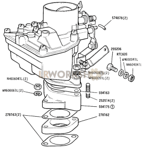 Carburetter Fixings Part Diagram