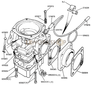 Carburetter Body and Fixings Part Diagram