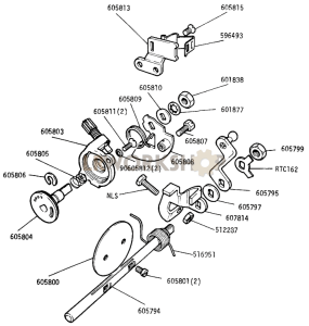 Carburetter Cold Start and Throttle Levers Part Diagram