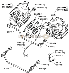Carburetters and Fuel Pipes Part Diagram