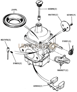 Carburettor Components Part Diagram