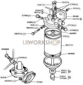 fuel pump and filter part diagram