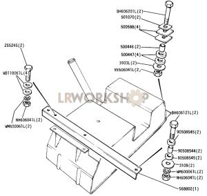 Fuel Tank Mounting Part Diagram