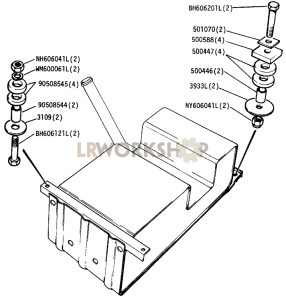 Fuel Tank Mountings Part Diagram