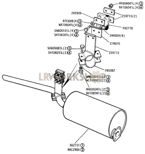 Silencer and Tail Pipe Part Diagram