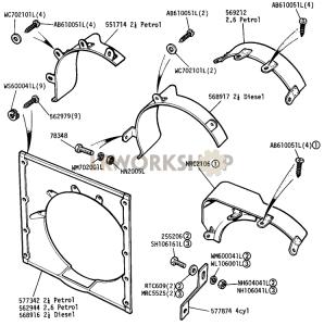 Radiator Cowl and Shroud Part Diagram