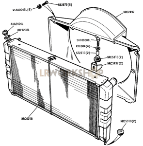 Radiator and Fan Cowl Part Diagram