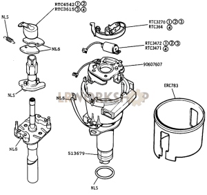 Distributor Components Part Diagram
