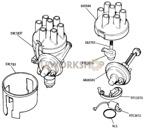 DETOXED ENGINE - Distributor Components Part Diagram