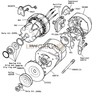 Alternator - 18ACR, 12 Volt 40 Amp, Battery Sensed Part Diagram