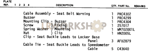 Audible Warning Safety Harness Part Diagram