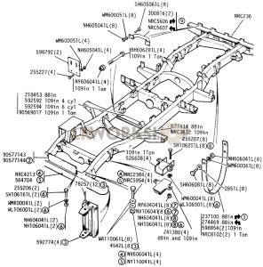 Chassis Frame Brackets Part Diagram