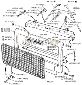 Radiator Grille Panel Part Diagram