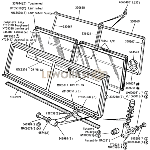 Windscreen Part Diagram
