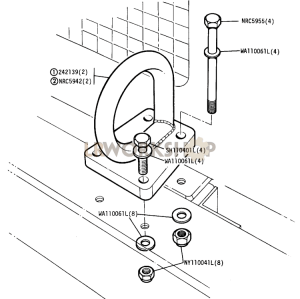 Front Lifting and Towing Rings Part Diagram