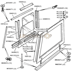Windows, Channels and Side Screens - Front Door Part Diagram