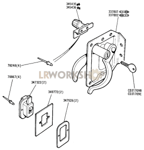 Private Locks and Sliding Window Catch - Front Doors Part Diagram