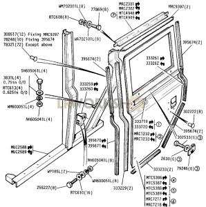 Rear Side Door and Frame Part Diagram