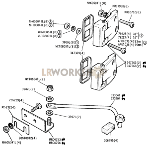 Hinges and Check Strap - Rear Side Doors Part Diagram