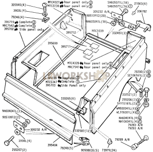 Rear Body Part Diagram