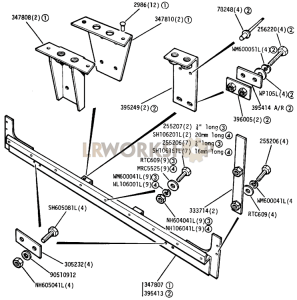 Toe Panel and Harness Brackets Part Diagram