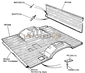 Bulkhead & Floor Part Diagram
