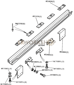 Rear Mounting Brackets Crossmember Part Diagram