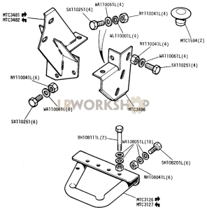Front and Rear Body Anchor and Rear Bumper Stops Part Diagram