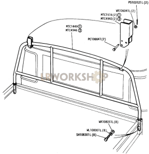 Ladder Rack Part Diagram