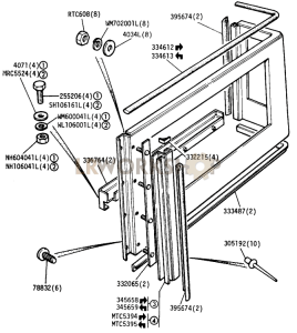 Side Panel and Fixings Part Diagram