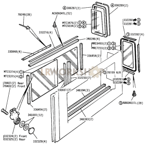Rear Side Windows Part Diagram