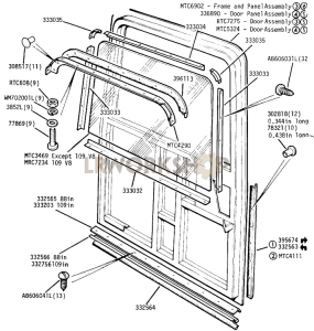 Rear Door Part Diagram