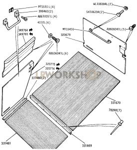 Floor and Door Trim Part Diagram