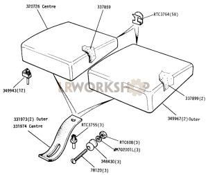 Seat Cushion - Non Adjustable Part Diagram
