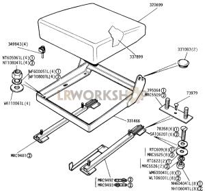Seat Cushion Adjustable Part Diagram