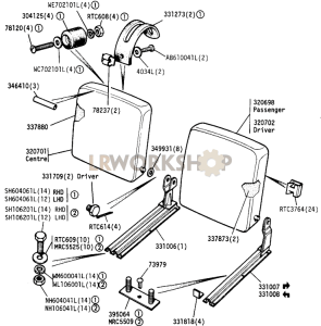 Front Seat Squabs Part Diagram