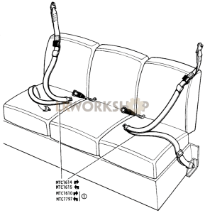 Seat Belts Driver and Passenger - Single Handed Action Part Diagram