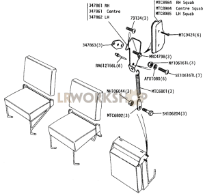 Seat Locking - ECE17 Type Part Diagram
