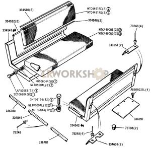 Rear Seats Part Diagram