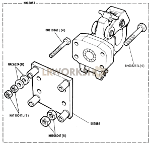 Optional Equipment - Rotating Towing Hook Part Diagram