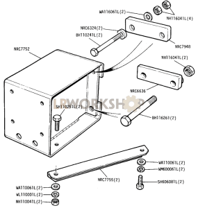 Optional Equipment - Towing Extension Bracket Part Diagram