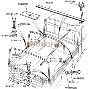 Optional Equipment - Hood Sticks Part Diagram