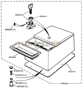 Optional Equipment - Console Unit Part Diagram