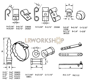 Cable Cleats, Plugs and Clips Part Diagram