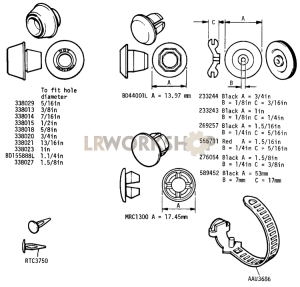 Grommets and Plugs Part Diagram