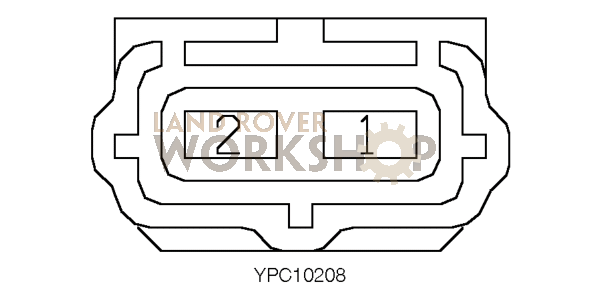 c2122 connector - lamp - reverse  fog - lh - defender 2002my