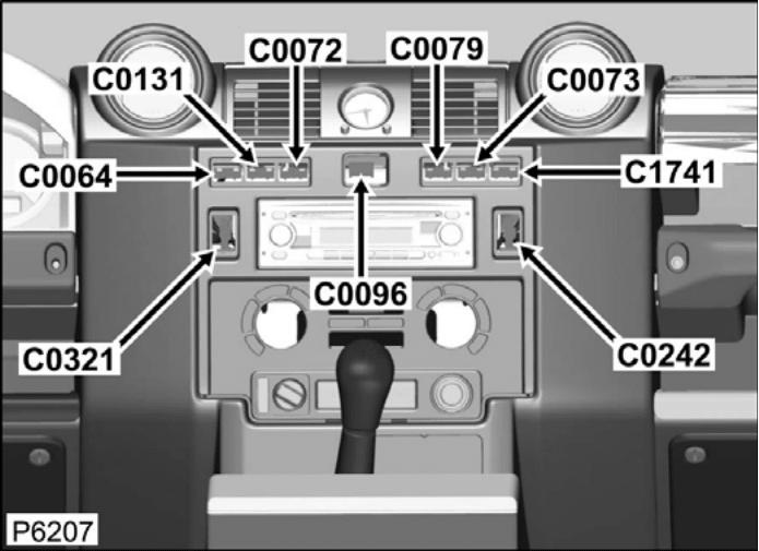 land rover fuse box diagram wiring schematic land rover fuse box connector part numbers c0321 connector - switch - window - front - lh - defender ...